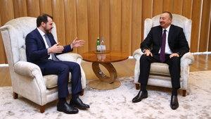 Bakan Albayrak, Cumhurbaşkanı Aliyev ile görüştü