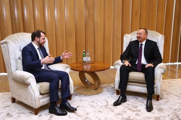 Enerji ve Tabii Kaynaklar Bakanı Albayrak Bakü'de, Azerbeycan Cumhurbaşkanı İlham Aliyev ile görüştü