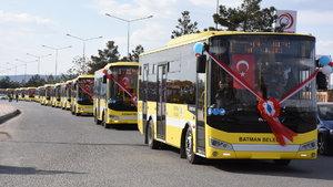 Batman Belediyesi 26 otobüsü sefere başlattı