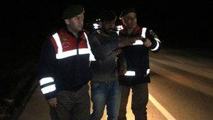 Edirne'de kaza yaptıktan sonra tarlaya gizlenen sürücü yakalandı