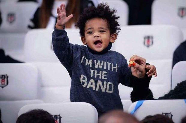Atiba Hutchinson'ın oğlu Noah, Beşiktaş marşıyla coştu