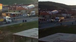 Arnavutköy'de hafriyat kamyonu sürücüsü ile mahalleli kavgası