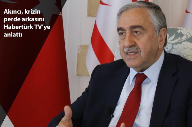 KKTC Cumhurbaşkanı Mustafa Akıncı, Habertürk TV'ye konuk oldu