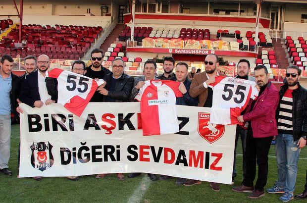 Beşiktaşlılardan Samsunspor'a destek