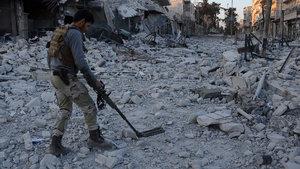 El Bab'da mayın temizliği başladı