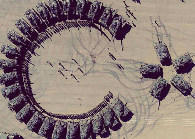 172. Zırhlı Tugayı'ndaki askerlerden tanklarla Ay-Yıldız şov