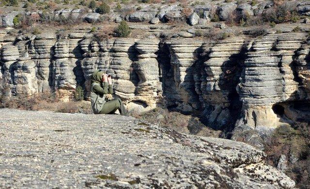 Karabük'te 15 erkek meslektaşı ile kaçak avcılarla mücadele veriyor