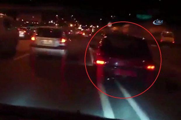 Trafikte makas atan maganda ortalığı birbirine kattı