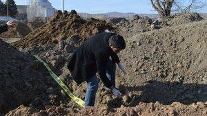 Ankara'da harfiyat dökülen park alanında insan kemikleri bulundu