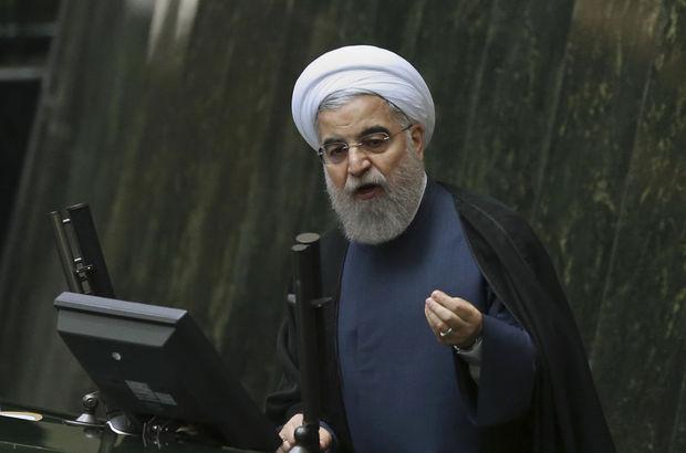 İran Cumhurbaşkanı Ruhani: Güvenlik gücümüzü 10 kat, silahlarımızı 100 kat artırsak bile...