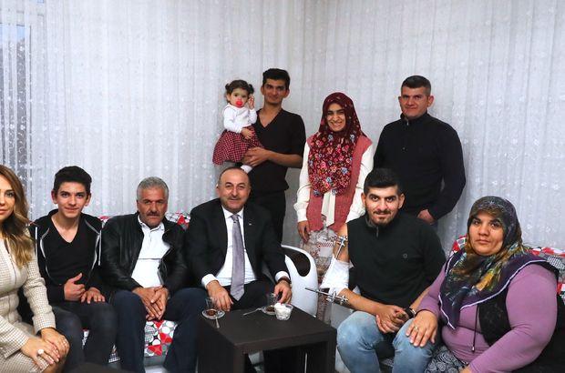Bakan Çavuşoğlu'ndan El Bab gazisine ziyaret