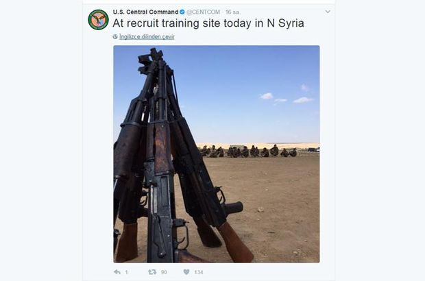 ABD, Suriye'deki silah yardımlarının fotoğraflarını paylaştı