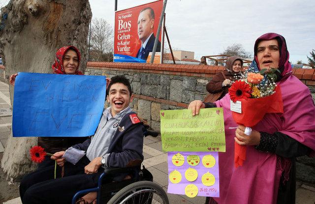 Cumhurbaşkanı Erdoğan'a Kısıklı'da doğum günü sürprizi