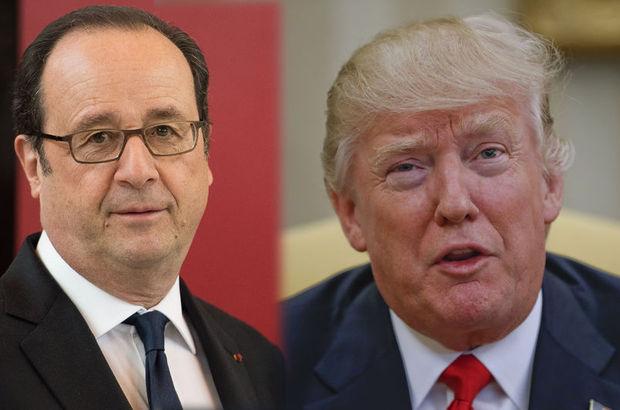 Donald Trump'ın o sözlerine François Hollande'dan tepki