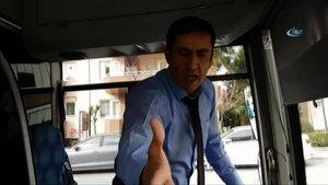 Bursa'da özel halk otobüsünde engelli çocuk ve babasına hakaret kamerada
