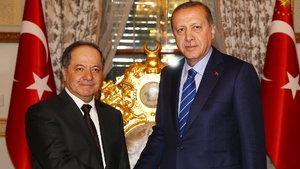 IKBY Başkanı Barzani, Cumhurbaşkanı Erdoğan ile görüşüyor