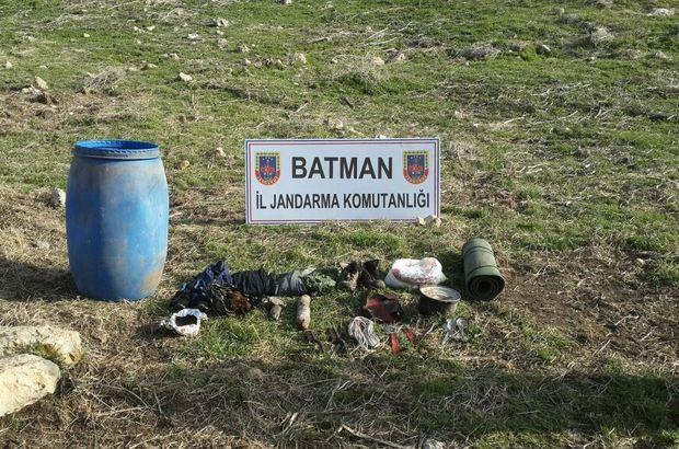 Batman'da terör örgütü PKK'nın sığınağı imha edildi