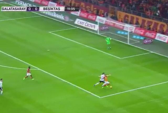 Galatasaray - Beşiktaş maçındaki penaltı pozisyonu