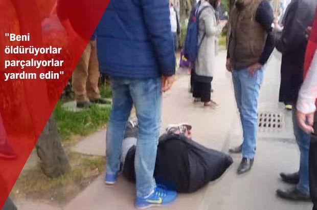 Beşitaş'ta hırsıza vatandaştan meydan dayağı