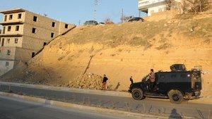 Mardin'de bir mahallede sokağa çıkma yasağı