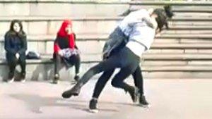 Zonguldak'ta liseli kızlar birbirine girdi