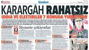 Hürriyet'ten 'Karargah rahatsız' manşetiyle ilgili açıklama