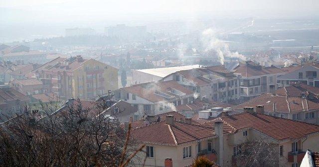 Havası en kirli yerleşim yeri Keşan'da iki eve doğalgaz verildi