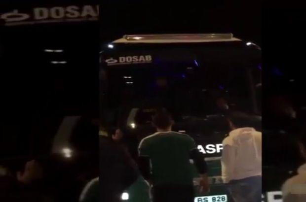 Bursasporlu futbolculara saldırının görüntüleri ortaya çıktı!..