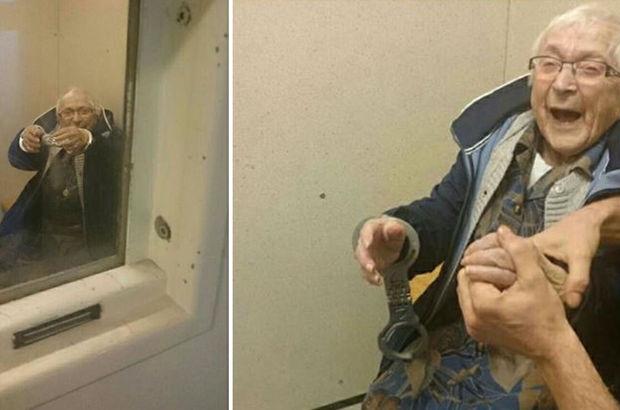 100 yaşındaki kadın kendini tutuklattı!