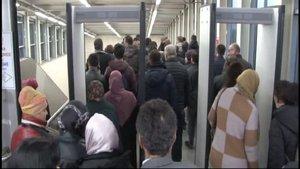 Marmaray'da 'sis' yoğunluğu