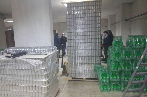 İstanbul'da kaçak içki operasyonu