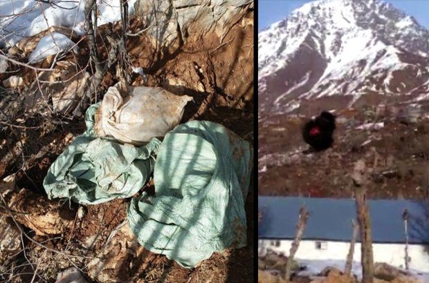 Hakkari Şemdinli'de PKK'ya ait 500 kilo patlayıcı imha edildi