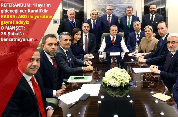 Erdoğan'dan Pakistan dönüşü referandum ve Rakka mesajları