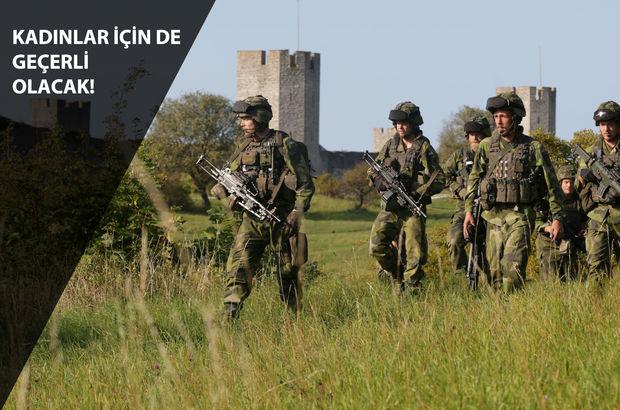 İsveç'te zorunlu askerlik geri geliyor