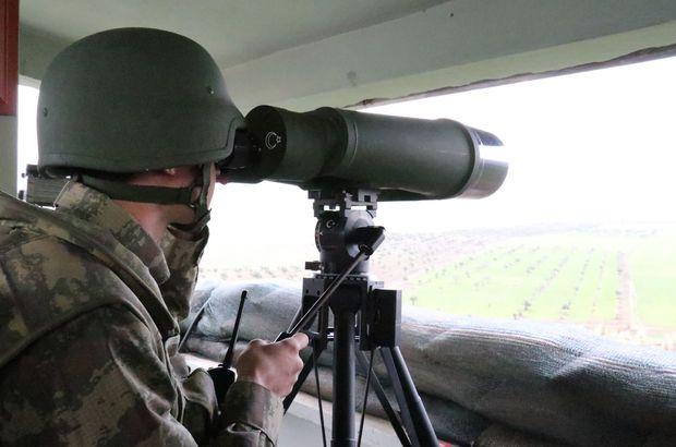 Türkiye-Suriye sınır hattında hudut birlikleri 24 saat nöbet tutuyor