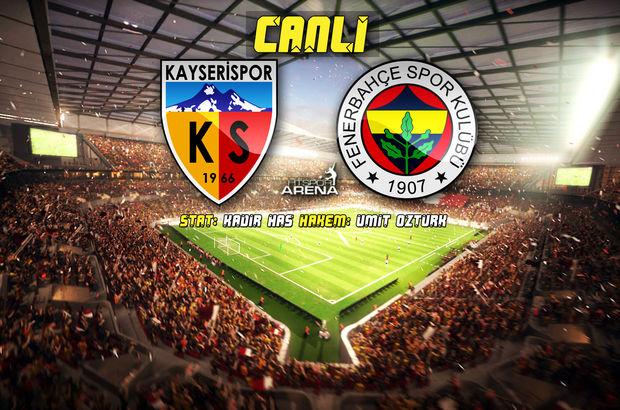 Kayserispor Fenerbahçe maçı kaç kaç bitti? Ziraat Türkiye Kupası Maç Sonucu Atv Canlı