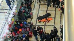 Erzurum'da iş merkezinde feci ölüm