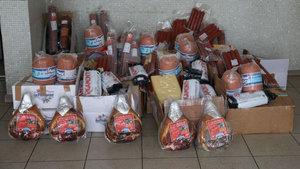 Edirne'de kaçak domuz eti ve peynir ele geçirildi
