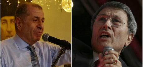Silifke'de bir grup, Yusuf Halaçoğlu ve Ümit Özdağ'ın konuştuğu salonu bastı