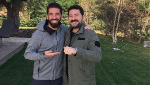 Serkan Kaya, Arda Turan'ı ziyaret etti