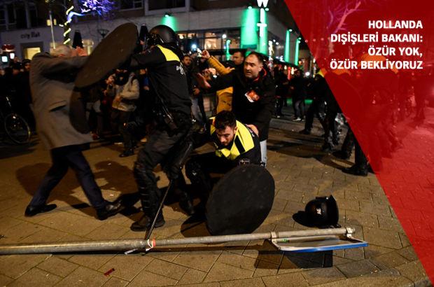 Hollanda Başbakanı'ndan polise vahşet tebriği!