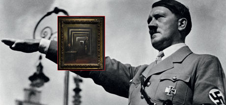 Adolf Hitler'in yaptığı tablo ilk kez sergilendi