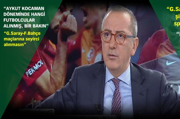 """Fatih Altaylı: """"Galatasaraylı iki futbolcu maçı sattı"""""""