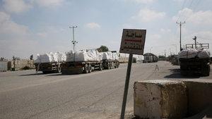 Gazze'nin nefes borusu Kerem Şalom Sınır Kapısı