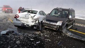 Kayseri'de zincirleme kaza