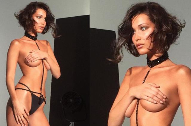 Ünlü model Bella Hadid, kıvırcık oldu!