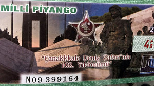 Milli Piyango biletlerine Çanakkale 3 'k' ile yazıldı