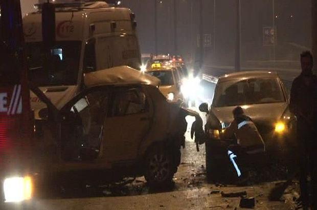 İstanbul TEM'de kaza: 5 yaralı