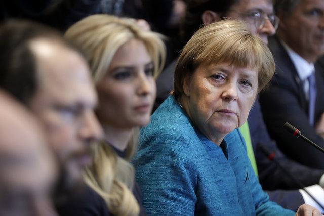 Sosyal medya, Merkel'in Ivanka Trump'a bakışlarını konuşuyor