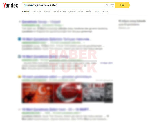 Yandex 18 Mart Çanakkale Zaferini Ana Sayfasına Taşıdı!